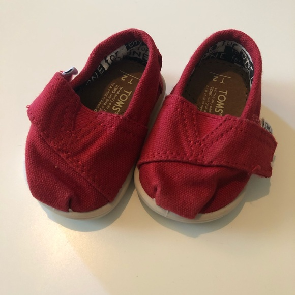 Toms Shoes   Baby Red   Poshmark